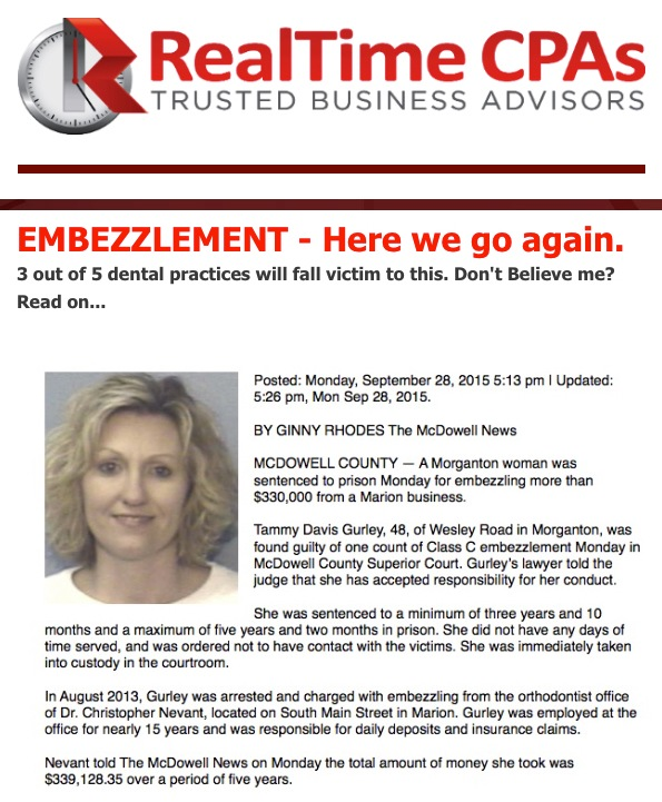 EMBEZZLEMENT - Here we go again.